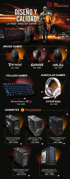 #Gabinetes #Teclados #Auriculares #Mouse Thermaltake Technology Inc  www.gvinformatica.com.ar