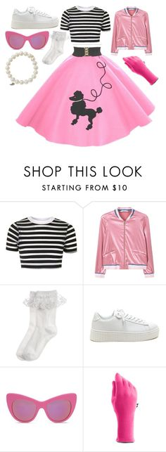 """50s chick"" by lauren53103 on Polyvore featuring Topshop, MANGO, Monsoon, STELLA McCARTNEY, Under Armour, Sydney Evan, Costume and 50schick"