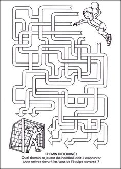Jeu du labyrinthe à imprimer Mazes For Kids, Craft Activities For Kids, Learning Activities, Kids Learning, Maze Worksheet, Worksheets For Kids, Lessons For Kids, Math Lessons, Maze Game