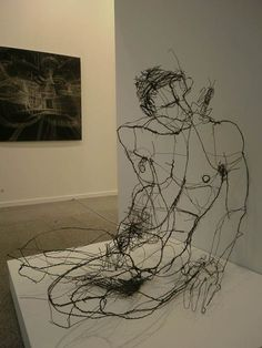 David Olivera Wire Sculpture by linda