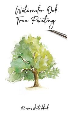 tree painting ideas \ tree painting - tree painting easy - tree painting acrylic - tree painting on the wall - tree painting canvas - tree painting watercolor - tree painting easy simple - tree painting ideas Tree Watercolor Painting, Watercolor Paintings For Beginners, Watercolor Video, Watercolour Tutorials, Watercolor Techniques, Watercolor Landscape, Watercolor Flowers, Artist Painting, Painting Trees