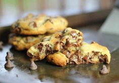 These 'perfect' chocolate chip cookies are completely buttery, chewy, thick and chocked full of rich, semi-sweet chocolate chips. Perfect Chocolate Chip Cookies, Chocolate Cookie Recipes, Semi Sweet Chocolate Chips, Easy Cookie Recipes, Homemade Desserts, Chocolate Flavors, Chocolate Chocolate, Baking Recipes, Dessert Recipes