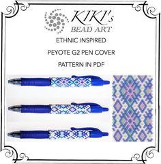 Pattern, peyote pen cover ethnic inspired geometric, peyote pattern for pen wrap…