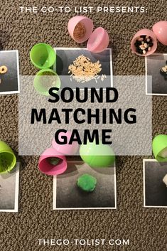 Want to play a game while fine-tuning your sense of hearing? Get instructions & a printable for our Sound Matching Game (& other 5 senses activities) 5 Senses Craft, Five Senses Preschool, 5 Senses Activities, My Five Senses, Pre K Activities, Preschool Music, Preschool Lesson Plans, Preschool Curriculum, Preschool Science