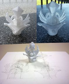 Bottle of flavor I do first in paper then in printing then in resin Les Oeuvres, 3d Printing, Resin, Illustrations, Bottle, Paper, Prints, Paint, Impression 3d