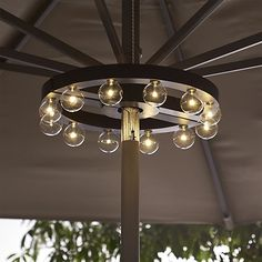 Genius!  Umbrella Marquee Lights  | Crate and Barrel