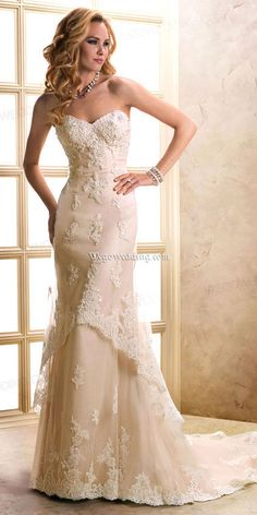 satin,tulle chapel train sweetheart sheath wedding dress
