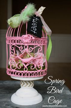Hometalk :: Spring Bird Cage With Michaels and Hometalk #mpinterestparty