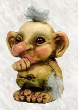 840075 Baby troll sucking thumb from Troll shop Troll size small