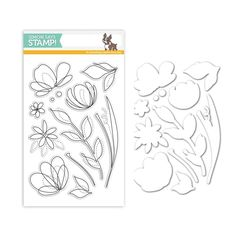 Simon Says Stamp clear stamps are high quality photopolymer and made in the USA. The stamp set measures 4 inches x 5 inches. This stamp coordinates with the Floral Shapes wafer die Flower Stamp, Flower Cards, Simon Says Stamp, Digi Stamps, Large Flowers, Clear Stamps, Spring Flowers, Form, Cardmaking