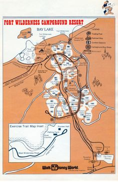 Map of Train at Fort Wilderness - Fort Wilderness Railroad