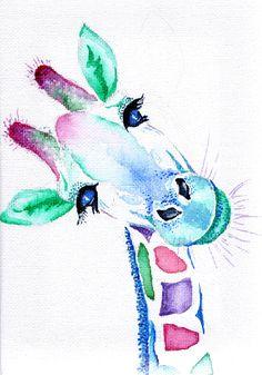 Giraffe watercolour on canvas by Sarah Caisey – pr… – Giraffe watercolour on canvas by Sarah Caisey – pr… – Giraffe Drawing, Giraffe Painting, Giraffe Art, Watercolor Canvas, Watercolor Paintings, Original Paintings, Canvas Art, Artwork Paintings, Painting Prints