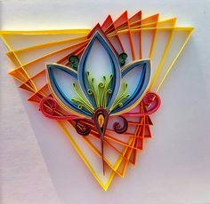 This artwork of paper quilling is transform from line art. - Quilling - Pregnant Tips 3d Quilling, Paper Quilling Tutorial, Paper Quilling Patterns, Origami And Quilling, Quilled Paper Art, Quilling Paper Craft, Quilling Flowers, Origami Art, Diy Paper