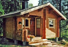 small Finnish pine cabins by tay log cabins in scotland.