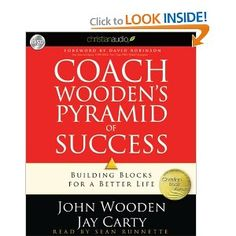 Coach Wooden's audio book for the drive