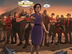 The last pannel of Team Fortress 2 slightly adjusted for entertainment. Team Fortress 2 Game, Comic Character, Character Design, Tf2 Comics, Tf2 Memes, Team Fortess 2, Anime Fnaf, T Play, Big Daddy