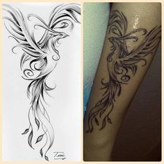 My first one! Phoenix tattoo, making me rise from the ashes of my life ☺ #phoenix #risingfromtheashes