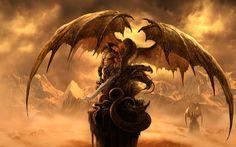 Fantasy Art Dragons | to each his own - Dragons Wallpaper