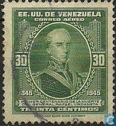 Stamps - Venezuela - R. Urdaneta 1946