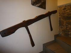 de l'étable à l'escalier,encore du matériel récupéré