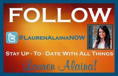 Follow @LaurenAlainaNow on Twitter for all things Lauren Alaina!! https://twitter.com/LaurenAlainaNow