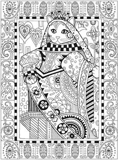 creative cats coloring book pdf - Google Search