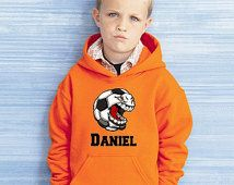 Personalized  Cartoon Soccer Youth Hoodie