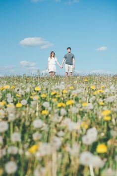 Engagement shoot in summery floral field.  Matt Fox Photography - Blog