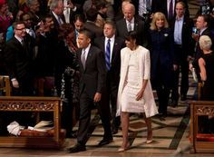 President Barack Obama With 1st Lady Michelle Obama @ Inaugural Prayer Service....  January 22, 2013