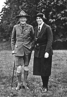Lady and Sir Baden Powell, founders of Boy and Girl Scouts I met Lady Baden Powell ant the 1969 New Zealand 5th National Jamboree.