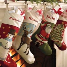 17 Best Best Embroidered Personalized Christmas Stockings 2016 images | Christmas stockings, Embroidered christmas stockings, Christmas stockings personalized