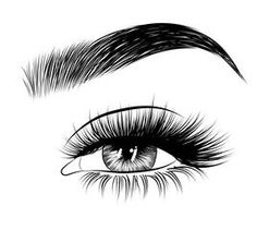 Hand-drawn woman's sexy luxurious eye with perfectly shaped eyebrows and full lashes. Idea for business visit card, typography vector.Perfect salon look. - Buy this stock vector and explore similar vectors at Adobe Stock - Beauty Arte Lowrider, Eyelash Logo, Lashes Logo, Beauty Lash, Salon Art, Eyelashes Drawing, Elastic Hair Bands, Eye Art, Mermaid Makeup