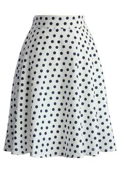 Dots Have Fun A-line Skirt - New Arrivals - Retro, Indie and Unique Fashion