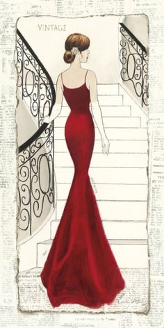 La Belle Rouge Poster von Emily Adams - AllPosters.at