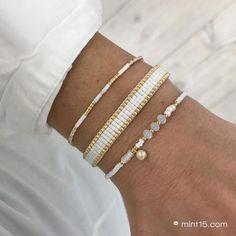 Loom Bracelet Patterns, Bead Loom Bracelets, Bracelet Crafts, Bracelet Set, Bead Jewellery, Beaded Jewelry, Handmade Bracelets, Handmade Jewelry, Embroidery Jewelry