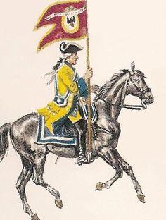 Numancia 1739 Dragones.  Portaguión