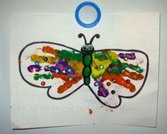 Colorful Handprint Butterfly - Fun Handprint Art