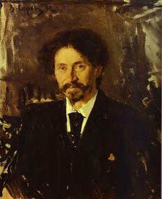 Serov, Valentin (1865-1911) - 1892 Portrait of the Artist Ilya Repin | by RasMarley