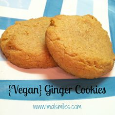 Mals Miles - Vegan Ginger Cookies {Guest Post}