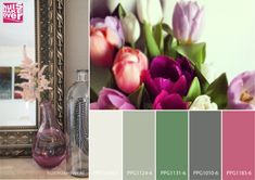 Pink accents freshen up an otherwise dull space. Try mixing shades of pink with green and neutrals.
