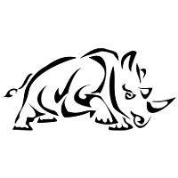 Seth rhino tattoo- protection, achievementation, heightened senses, and utilization of inner resource.
