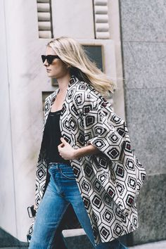 New_York_Fashion_Week-Spring_Summer-2016 - Street-Style-Jeans-Kimono-
