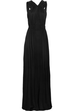 Stretch-silk maxi dress by Issa