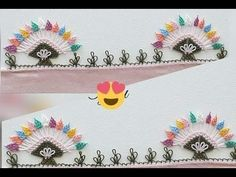 344- Muhteşem Bir İğne Oyası Gökkuşağı Modeli - YouTube Knit Shoes, Needle Lace, Sweater Design, Knitted Shawls, Knitting Socks, Hand Embroidery, Needlework, Knit Crochet, Rainbow