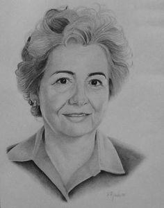 Retrato Mamá. Daxalma.