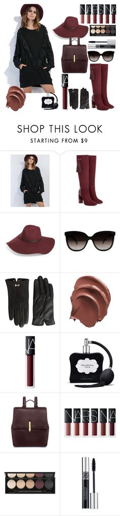 """Bez naslova #15"" by nikoleta-anic ❤ liked on Polyvore featuring WithChic, Aquatalia by Marvin K., Halogen, Ted Baker, NARS Cosmetics, Victoria's Secret, Karen Walker, Witchery and Christian Dior"