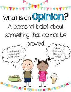 opinion vs personal