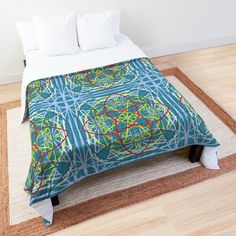 'Four Points of View' Comforter by Arrowsmith Design College Dorm Rooms, Point Of View, Square Quilt, Twin Xl, Quilt Patterns, Duvet Covers, Comforters, Blankets, Pillows