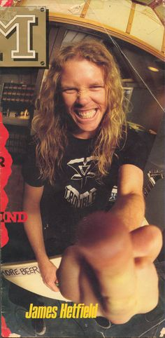 """James Hetfield (""""...and Justice for All"""" Recording Sessions - circa 1988)"""