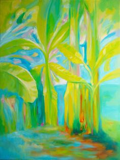 "Original art for sale at teepaa.com | Spring by Pulse Green | $299 | Oil painting | 40"" h x 30"" w x 1.5"" d 